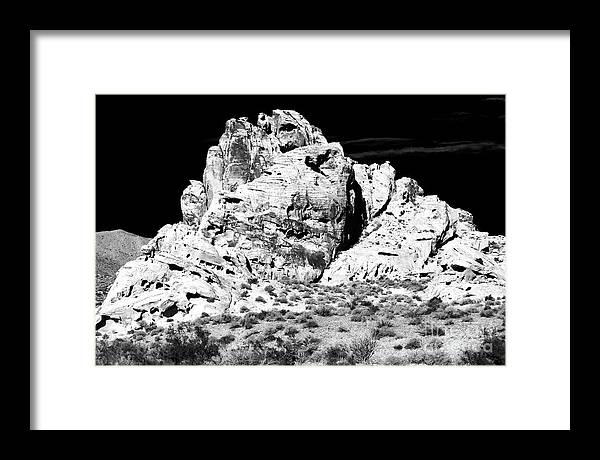 Big Stone Framed Print featuring the photograph Big Stone in the Valley of Fire by John Rizzuto