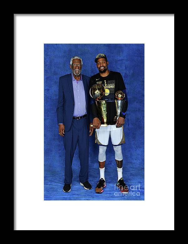 Playoffs Framed Print featuring the photograph Bill Russell and Kevin Durant by Jesse D. Garrabrant
