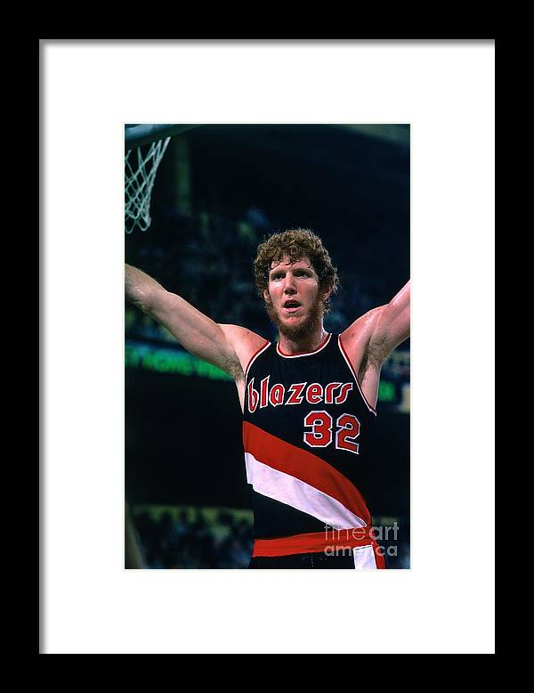Nba Pro Basketball Framed Print featuring the photograph Bill Walton by Dick Raphael