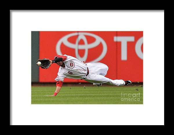 Great American Ball Park Framed Print featuring the photograph Billy Hamilton And Starling Marte by Jamie Sabau
