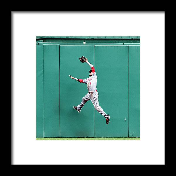 Toughness Framed Print featuring the photograph Billy Hamilton and Travis Snider by Justin K. Aller