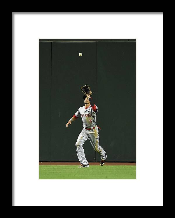 American League Baseball Framed Print featuring the photograph Billy Hamilton by Norm Hall
