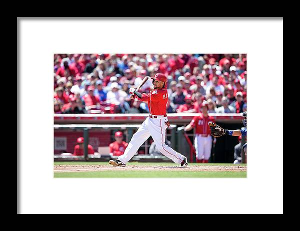 Great American Ball Park Framed Print featuring the photograph Billy Hamilton by Taylor Baucom