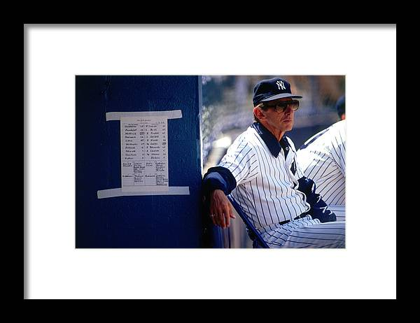 1980-1989 Framed Print featuring the photograph Billy Martin by Ronald C. Modra/sports Imagery