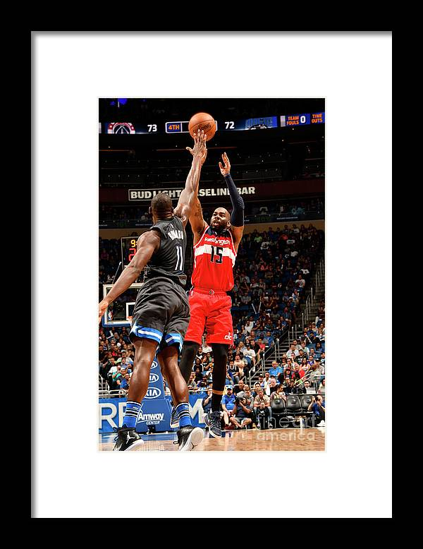Nba Pro Basketball Framed Print featuring the photograph Bismack Biyombo and Marcus Thornton by Fernando Medina