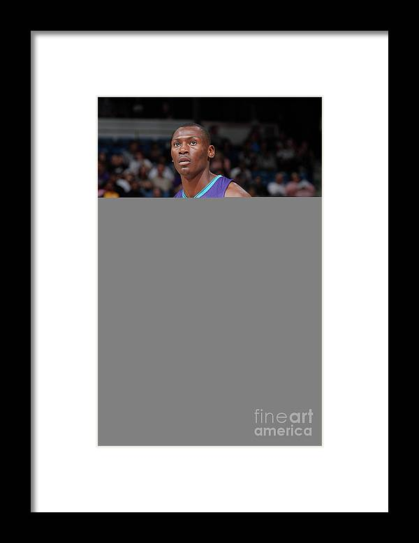 Nba Pro Basketball Framed Print featuring the photograph Bismack Biyombo by Rocky Widner