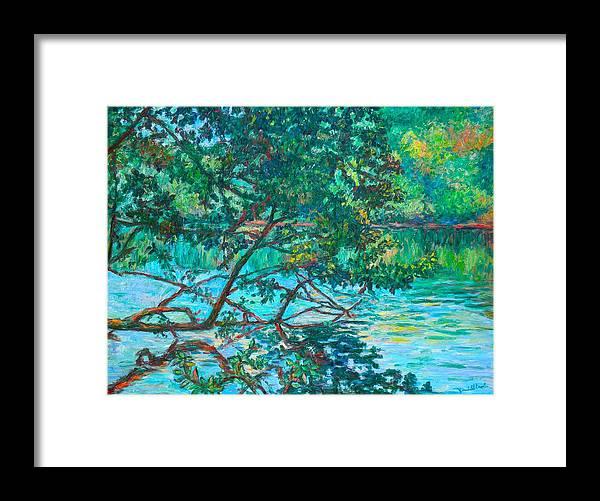 Landscape Framed Print featuring the painting Bisset Park by Kendall Kessler