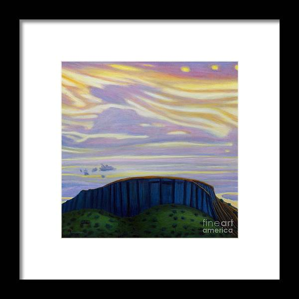 Black Mesa Framed Print featuring the painting Black Mesa by Brian Commerford
