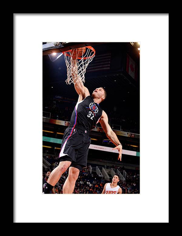 Nba Pro Basketball Framed Print featuring the photograph Blake Griffin by Barry Gossage