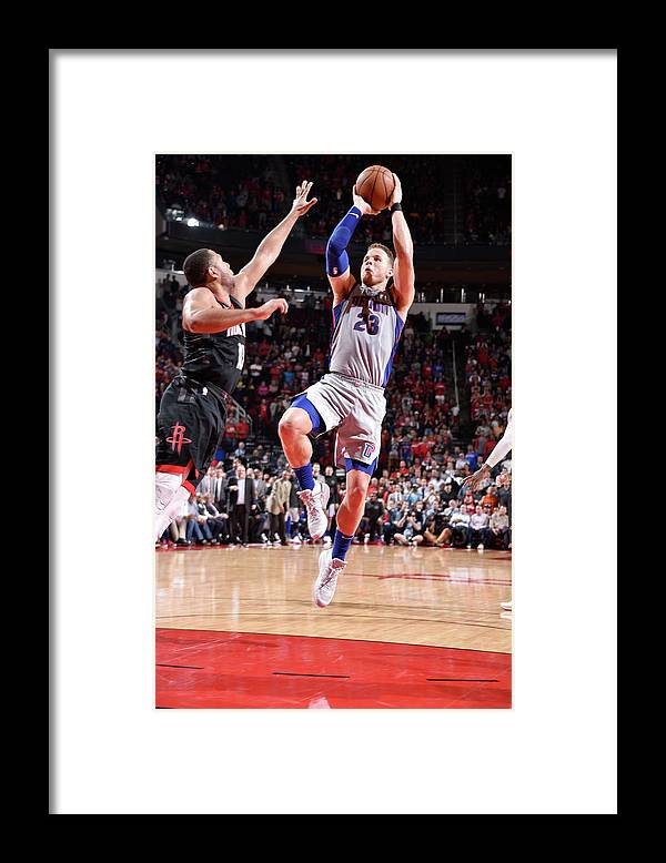 Sports Ball Framed Print featuring the photograph Blake Griffin by Bill Baptist