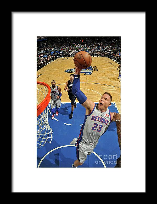 Nba Pro Basketball Framed Print featuring the photograph Blake Griffin by Fernando Medina