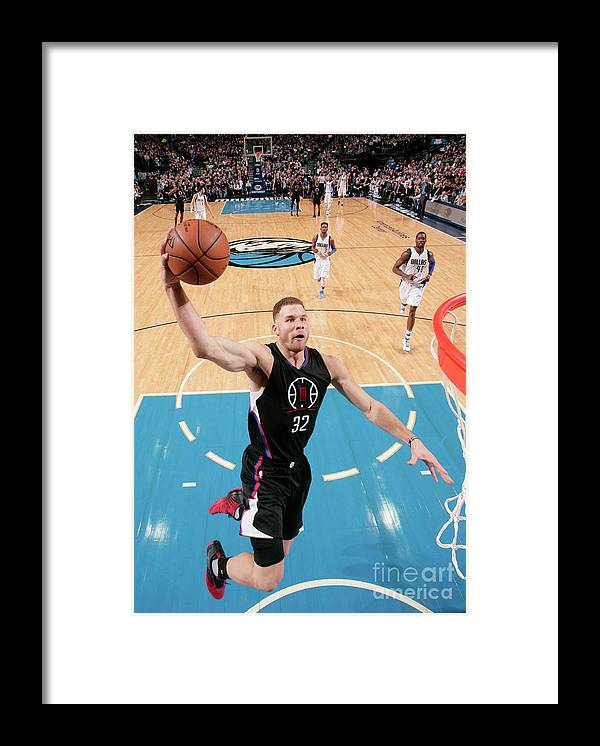 Nba Pro Basketball Framed Print featuring the photograph Blake Griffin by Glenn James