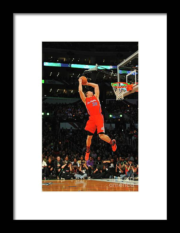 Nba Pro Basketball Framed Print featuring the photograph Blake Griffin by Jesse D. Garrabrant