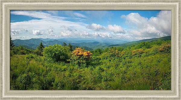 Blue Ridge Mtn Panorama by Ronald Santini
