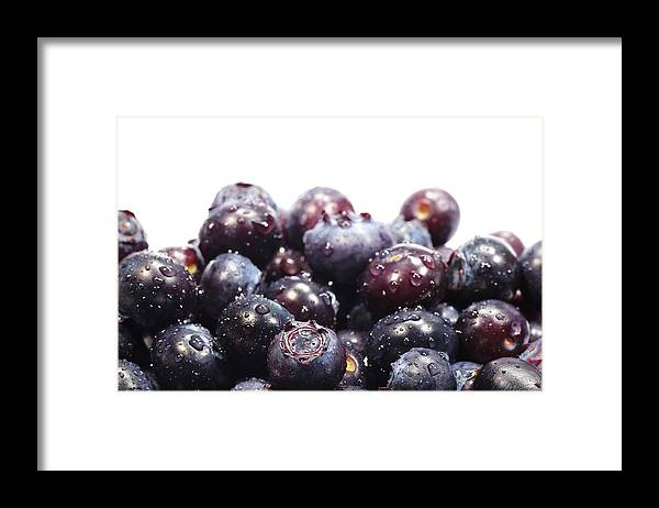 Heap Framed Print featuring the photograph Blueberries by Pejft