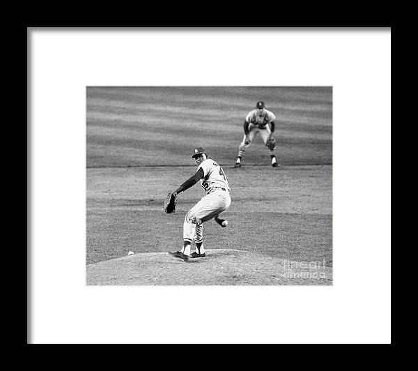 1950-1959 Framed Print featuring the photograph Bob Gibson by National Baseball Hall Of Fame Library