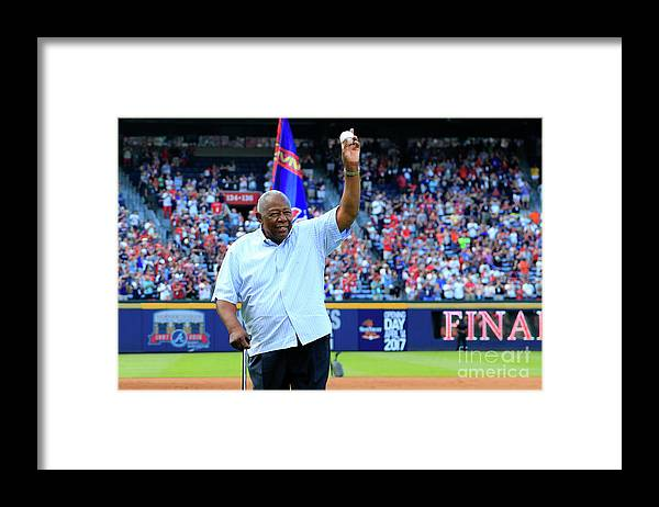 Atlanta Framed Print featuring the photograph Bobby Cox and Hank Aaron by Daniel Shirey