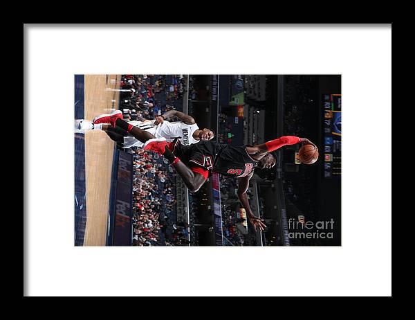 Nba Pro Basketball Framed Print featuring the photograph Bobby Portis by Joe Murphy