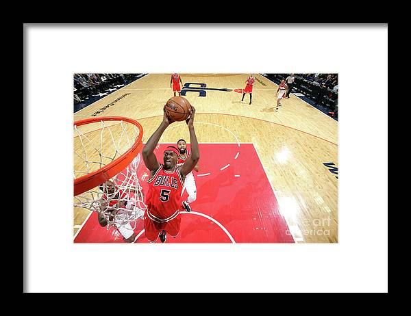 Nba Pro Basketball Framed Print featuring the photograph Bobby Portis by Ned Dishman
