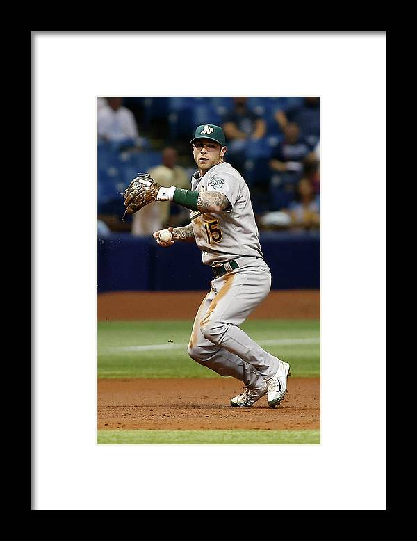 People Framed Print featuring the photograph Bobby Wilson and Brett Lawrie by Brian Blanco