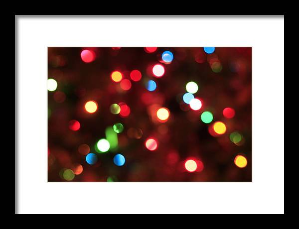 Bokeh Framed Print featuring the photograph Bokeh Colorful Lights - Christmas by Trevor Slauenwhite