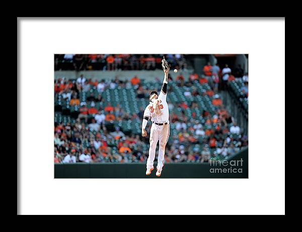 People Framed Print featuring the photograph Boog Powell and Manny Machado by Greg Fiume