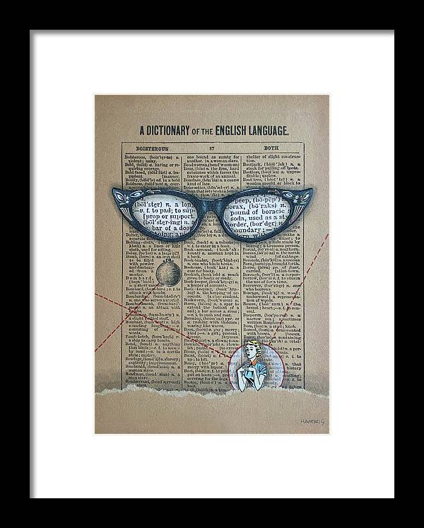 Library Framed Print featuring the mixed media Bookish Bombshell by Pamela Harris