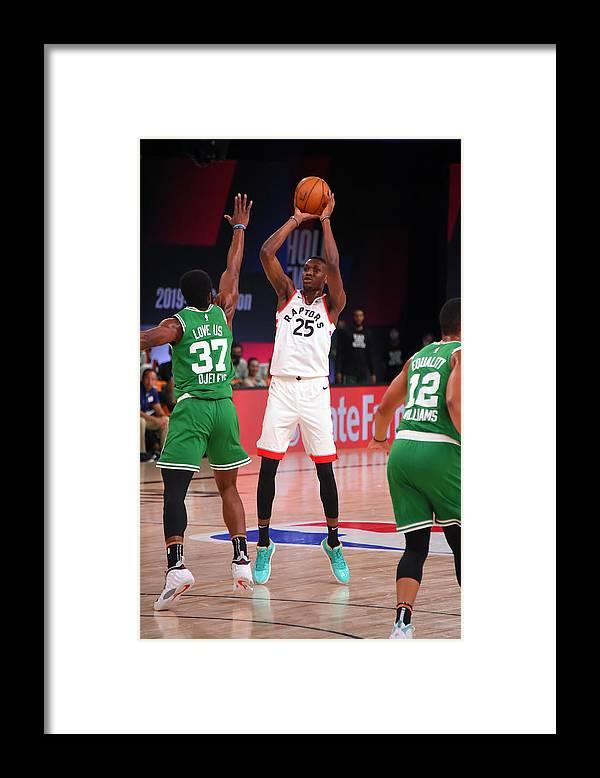 Nba Pro Basketball Framed Print featuring the photograph Boston Celtics v Toronto Raptors by Bill Baptist