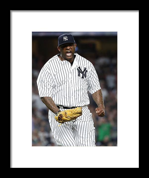 Three Quarter Length Framed Print featuring the photograph Boston Red Sox v New York Yankees by Al Bello