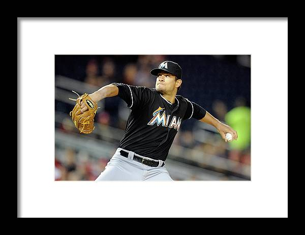 Second Inning Framed Print featuring the photograph Brad Hand by Greg Fiume