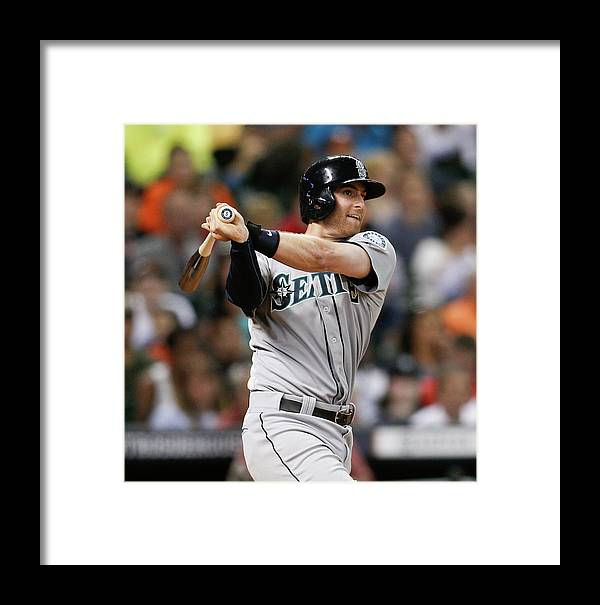 American League Baseball Framed Print featuring the photograph Brad Miller by Bob Levey