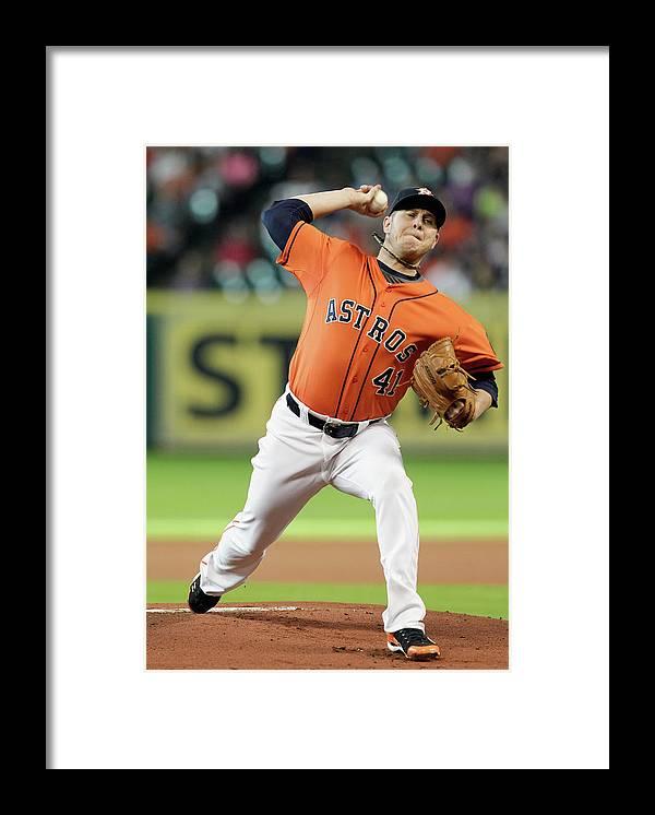 American League Baseball Framed Print featuring the photograph Brad Peacock by Bob Levey