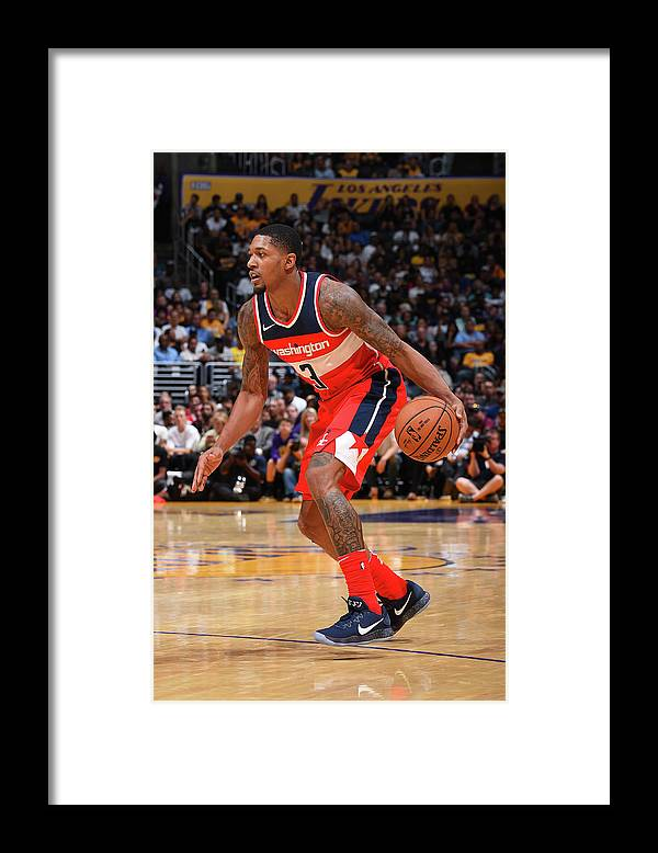 Nba Pro Basketball Framed Print featuring the photograph Bradley Beal by Andrew D. Bernstein