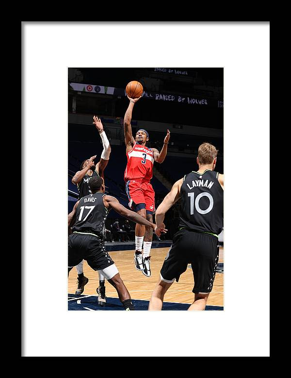 Nba Pro Basketball Framed Print featuring the photograph Bradley Beal by David Sherman