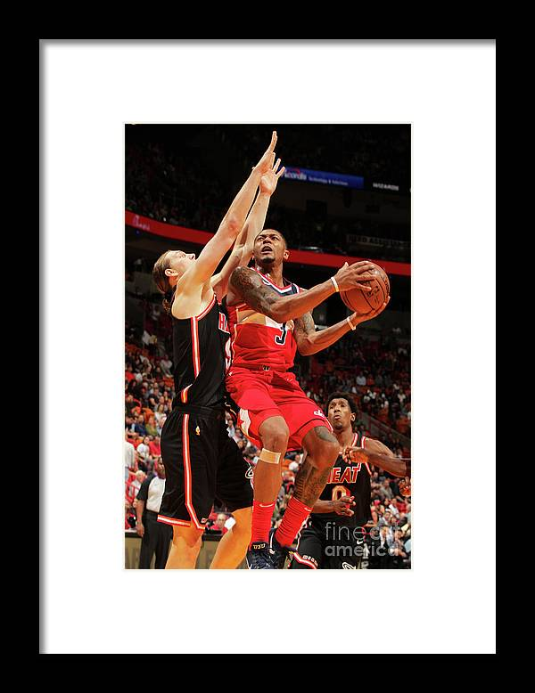 Nba Pro Basketball Framed Print featuring the photograph Bradley Beal by Oscar Baldizon