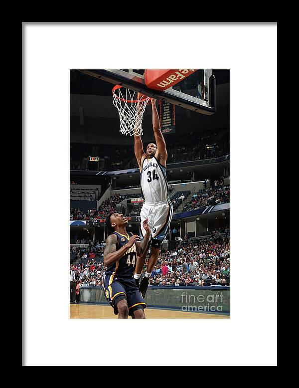 Nba Pro Basketball Framed Print featuring the photograph Brandan Wright by Joe Murphy