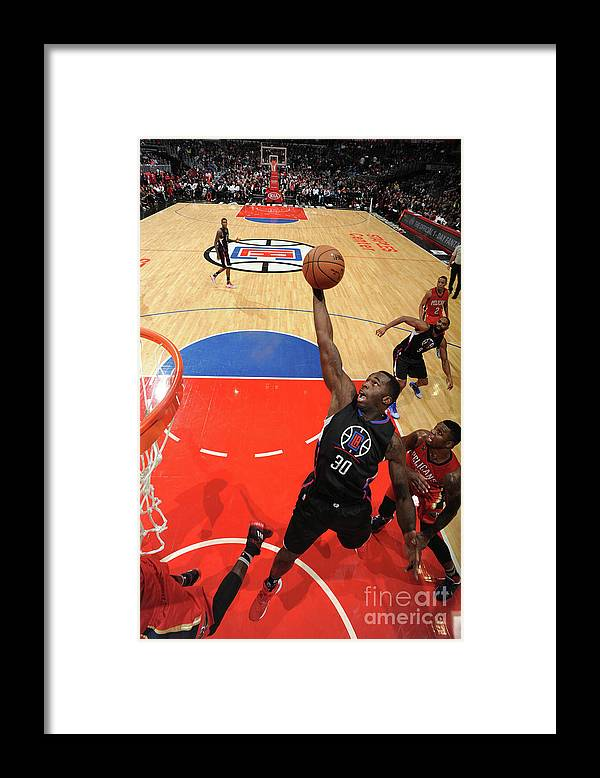 Nba Pro Basketball Framed Print featuring the photograph Brandon Bass by Adam Pantozzi