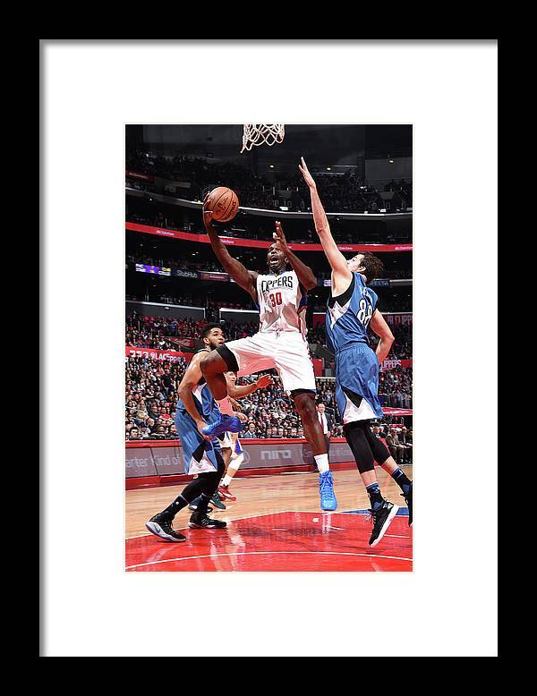 Nba Pro Basketball Framed Print featuring the photograph Brandon Bass by Andrew D. Bernstein