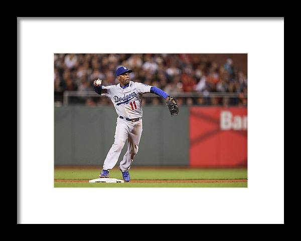 San Francisco Framed Print featuring the photograph Brandon Belt and Jimmy Rollins by Don Feria