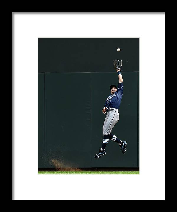 Second Inning Framed Print featuring the photograph Brandon Guyer and Eddie Rosario by Hannah Foslien