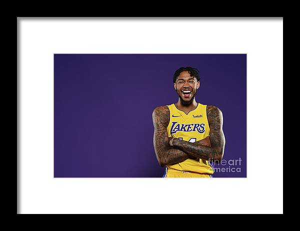 Media Day Framed Print featuring the photograph Brandon Ingram by Aaron Poole