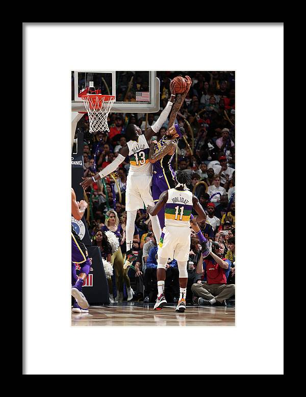 Smoothie King Center Framed Print featuring the photograph Brandon Ingram and Cheick Diallo by Nathaniel S. Butler