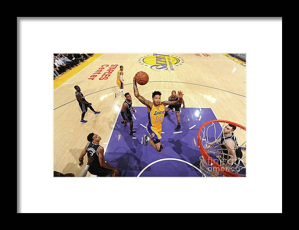 Nba Pro Basketball Framed Print featuring the photograph Brandon Ingram by Andrew D. Bernstein