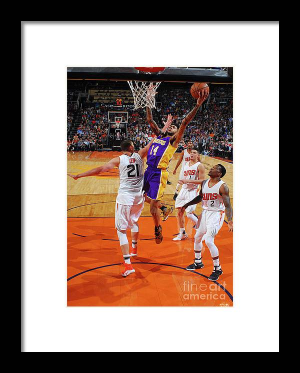 Nba Pro Basketball Framed Print featuring the photograph Brandon Ingram by Barry Gossage
