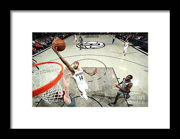 Nba Pro Basketball Framed Print featuring the photograph Brandon Ingram by Nathaniel S. Butler