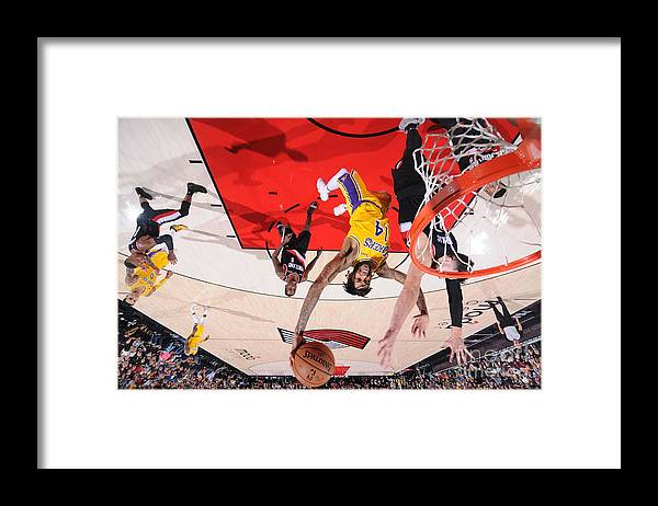 Nba Pro Basketball Framed Print featuring the photograph Brandon Ingram by Sam Forencich