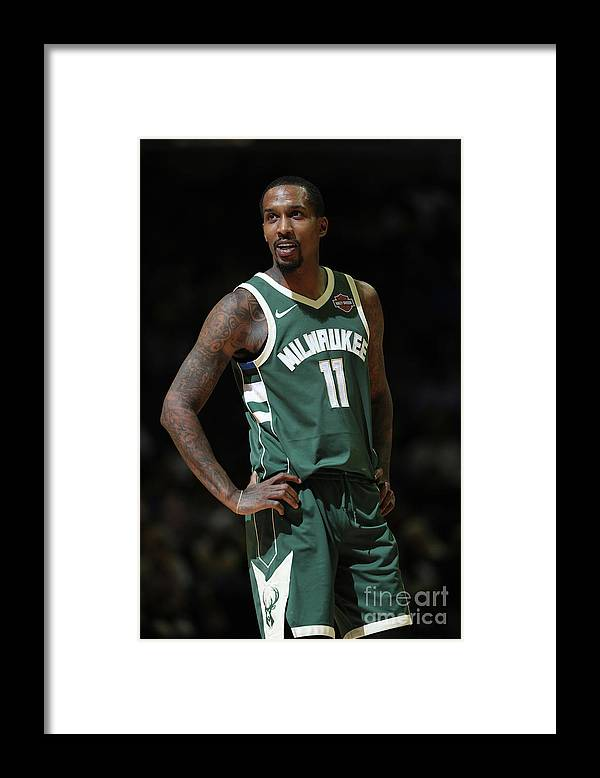 Nba Pro Basketball Framed Print featuring the photograph Brandon Jennings by Joe Murphy