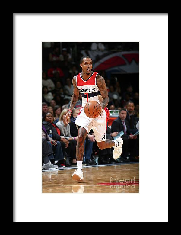 Nba Pro Basketball Framed Print featuring the photograph Brandon Jennings by Ned Dishman