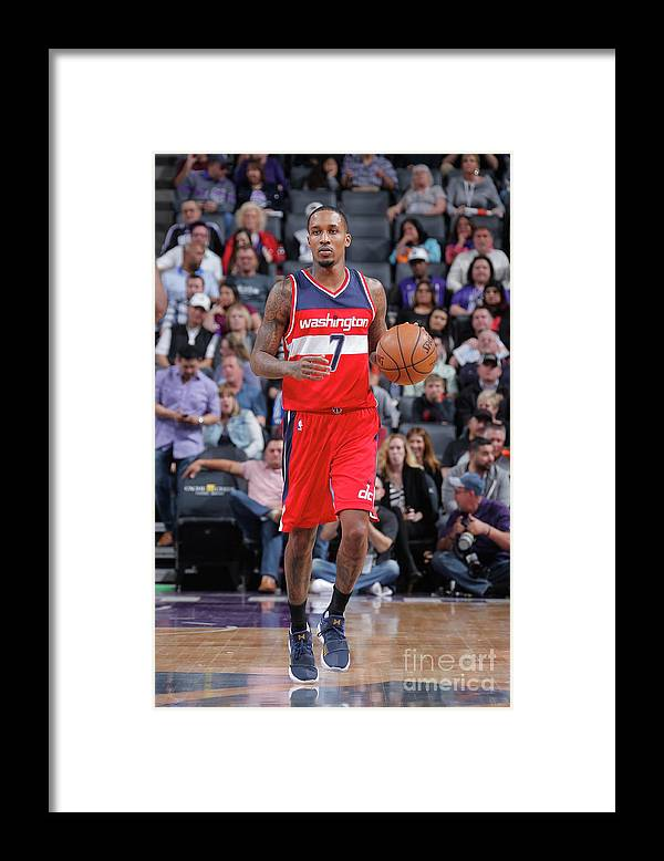 Nba Pro Basketball Framed Print featuring the photograph Brandon Jennings by Rocky Widner