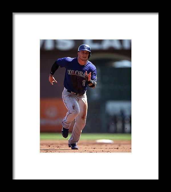 San Francisco Framed Print featuring the photograph Brandon League by Brad Mangin